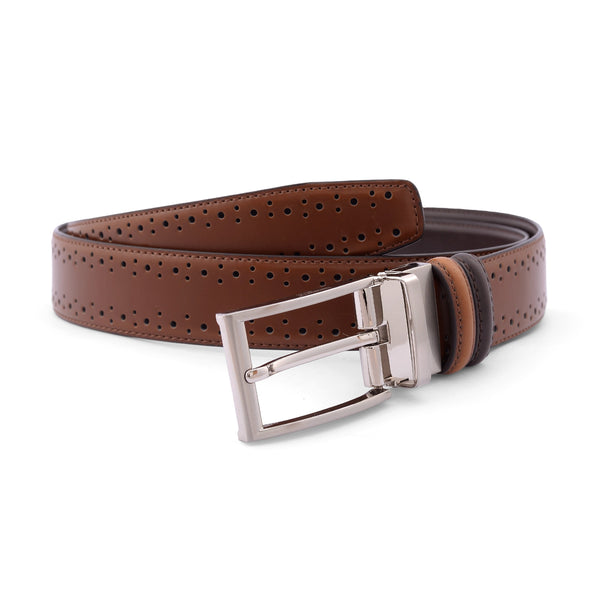 Coffee Brown Pin Buckle Leather Belt