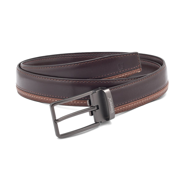 Brown And Khaki Pin Buckle Leather Belt