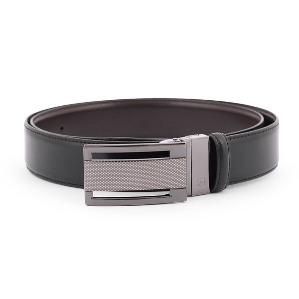 Brown And Black 2 Sided Fancy Buckle Belt