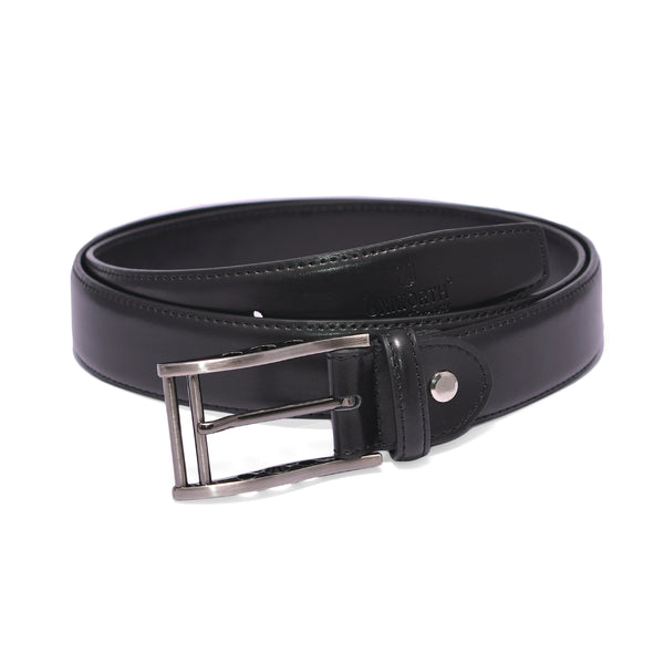 Black Pin Buckle Leather Belt