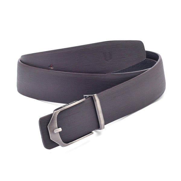 Matt Brown Fancy Buckle Leather Formal Belt