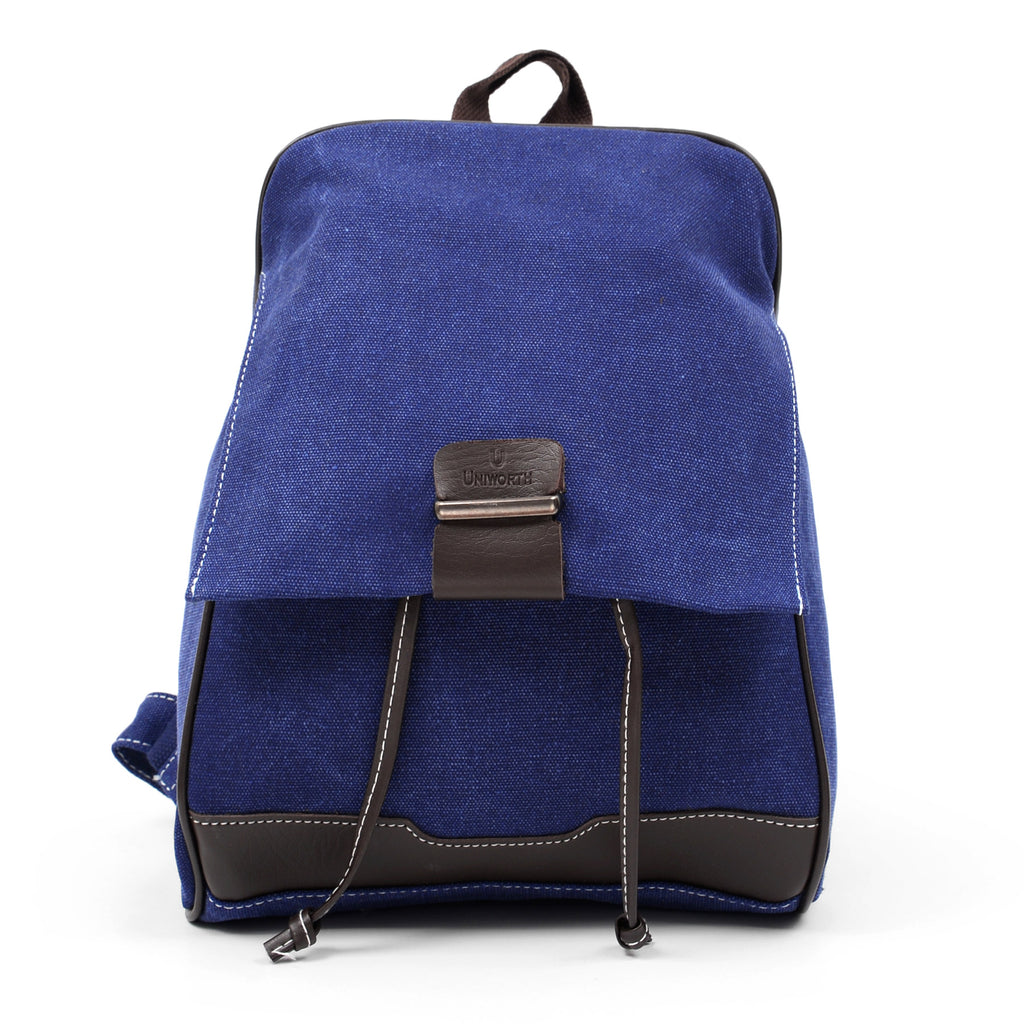 Voyagers Cross Body Carrier Canvas Blue Bag