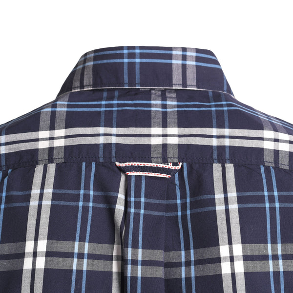 Multi Check On Navy Blue Smart Fit Casual Full Sleeve Shirt