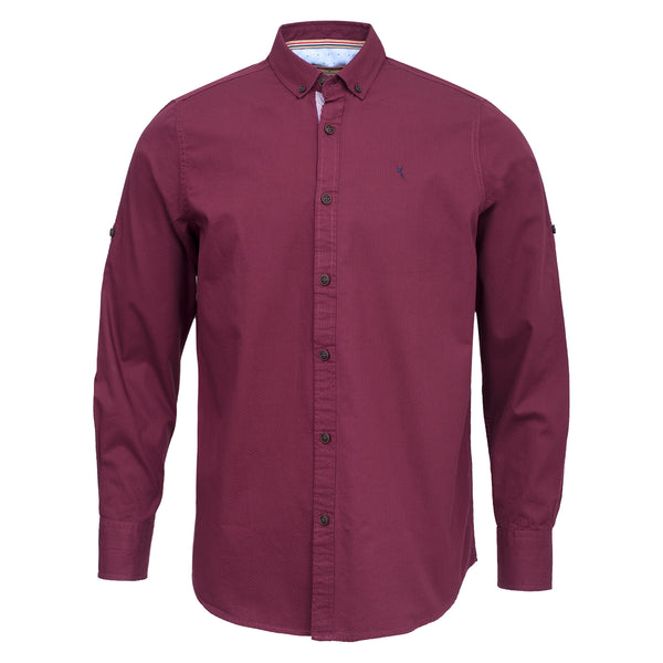 Crimson Smart Fit Button Down Casual Full Sleeve Shirt-M