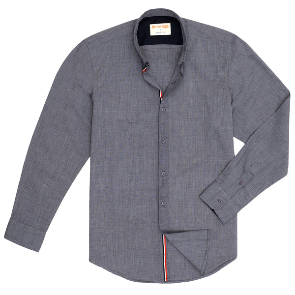 Charcoal Casual Full Sleeve Shirt-L