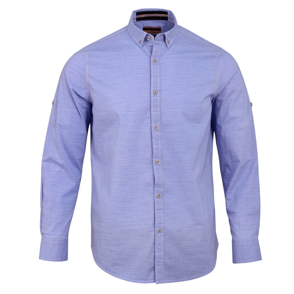 Sky Blue Smart Fit Casual Full Sleeve Shirt CS1907-2-L