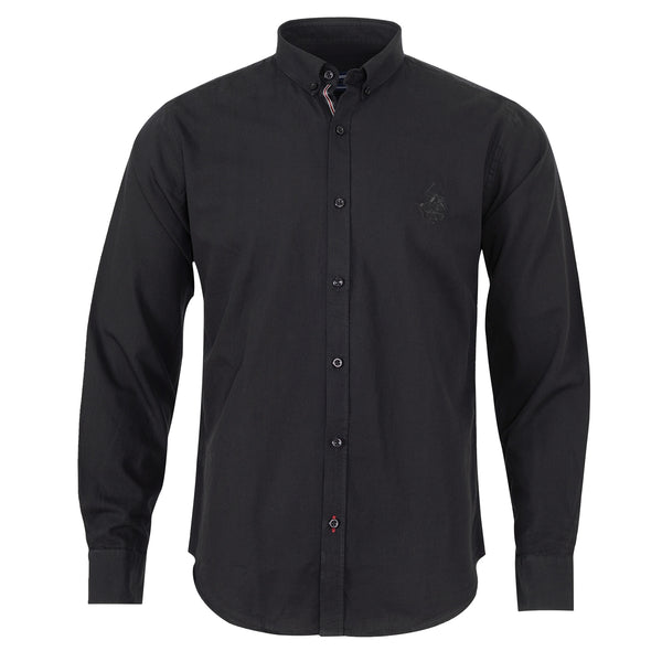 Black Full Sleeve Casual Smart Fit Shirt-L