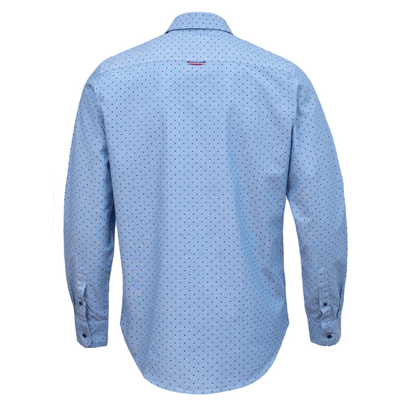 Sky Blue Full Sleeve Casual Smart Fit Shirt