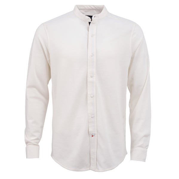 Off White Full Sleeve Casual Smart Fit Shirt-L