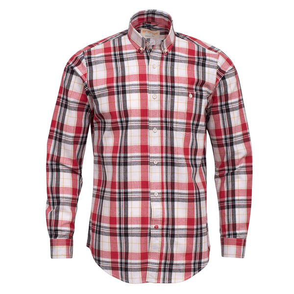 Red And White Check Full Sleeve Casual Smart Fit Shirt-L