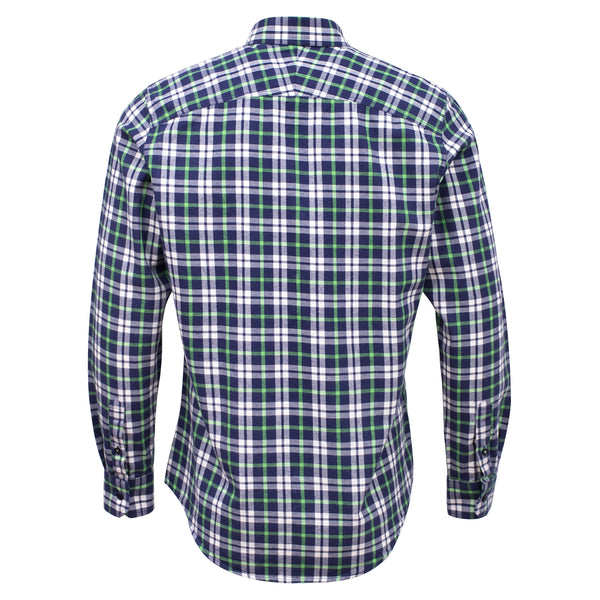 Navy Blue And Multi Check Full Sleeve Casual Smart Fit Shirt