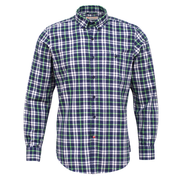 Navy Blue And Multi Check Full Sleeve Casual Smart Fit Shirt-L