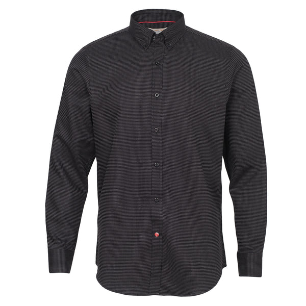Pin Dots Black Smart Fit Full Sleeve Casual Shirt-L