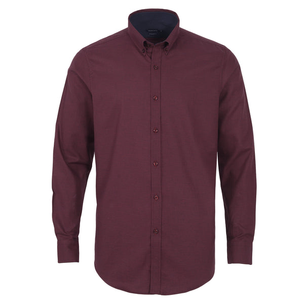 Crimson Button Down Casual Full Sleeve Shirt CS1952-1-L