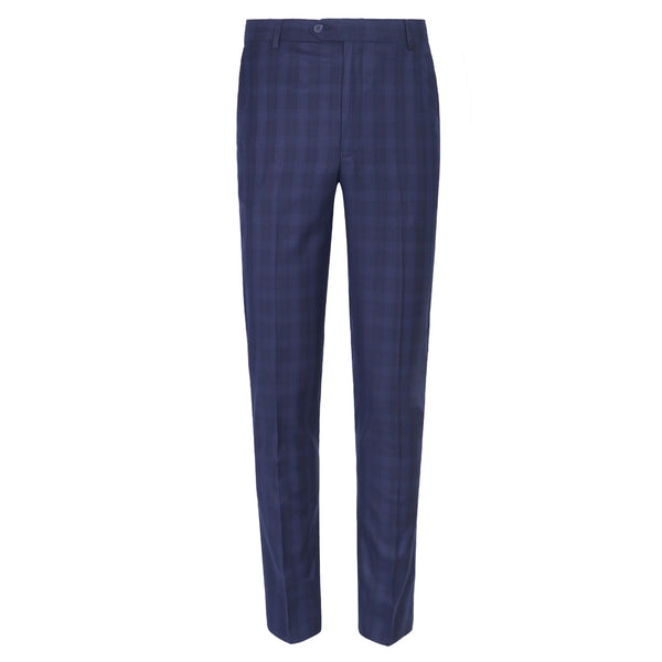 Navy Blue check Smart Fit Formal Trouser FT447-36