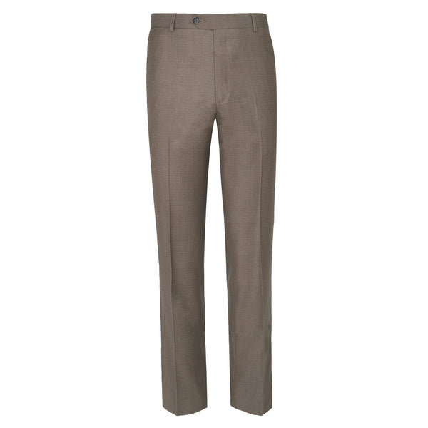 Medium Beige Plain Classic Fit Formal Trouser-32
