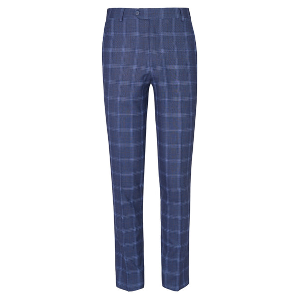 Sky Blue check Smart Fit Formal Trouser FT451-30
