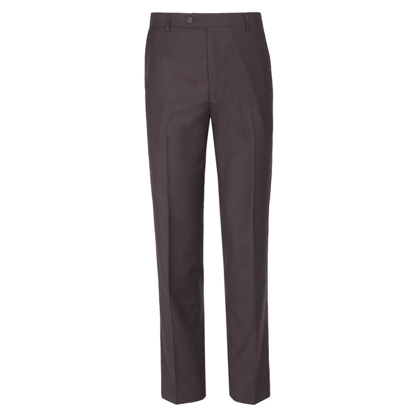 Chocolate Brown Plain Classic Fit Formal Trouser-32
