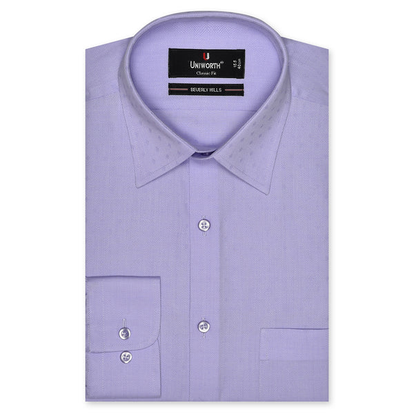 Beverly Hills Lilac Self Textured Classic Fit Designer Shirt FS2440-15