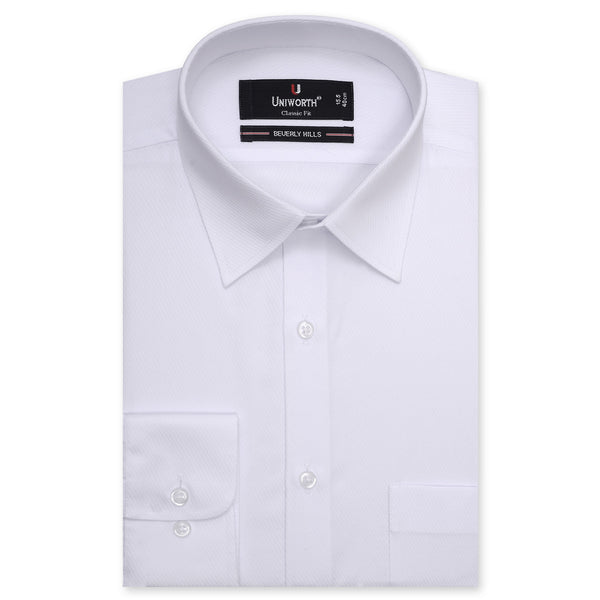 Beverly Hills Diagonal Self Striped Classic Fit Dress Shirt FS2564-14.5