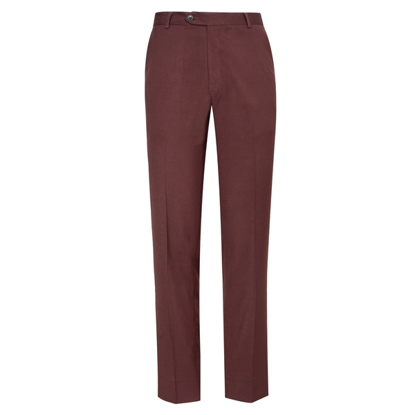 Rust Plain Classic Fit Formal Trouser-34