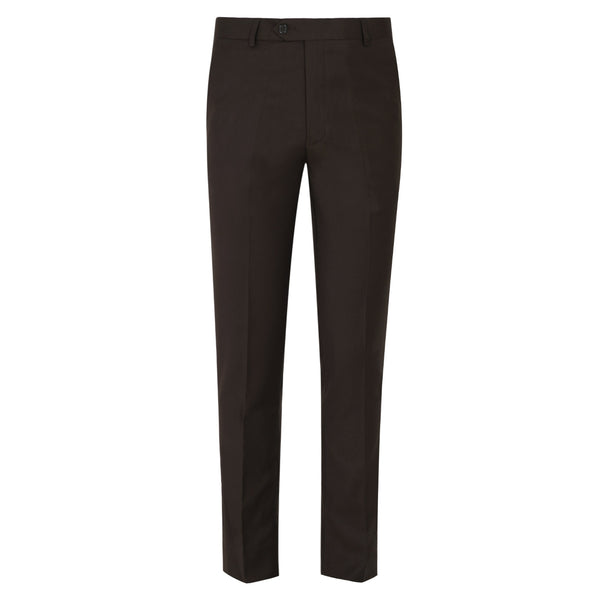 Chocolate Brown Plain Smart Fit Formal Trouser-32