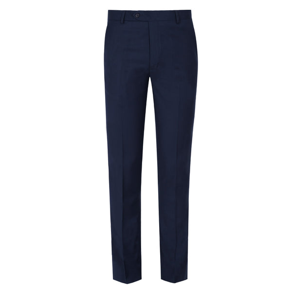 Navy Blue Plain Smart Fit Formal Trouser-32