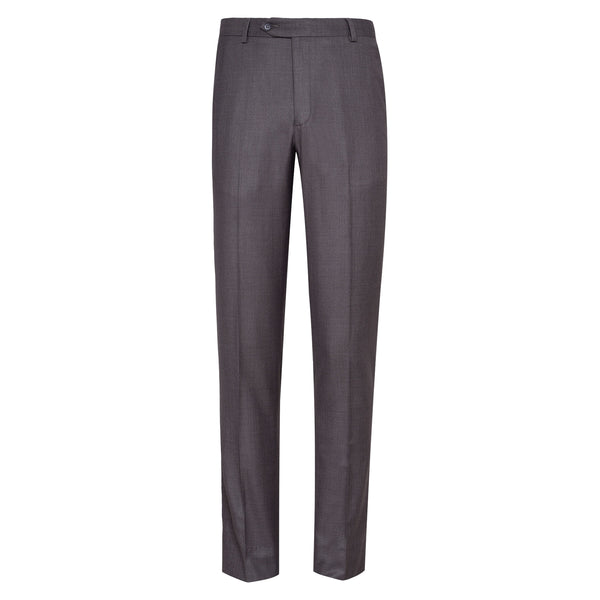 Taupe Grey Smart Fit Formal Trouser-30