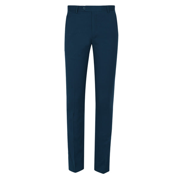 Teal Blue Smart Fit Formal Trouser-36