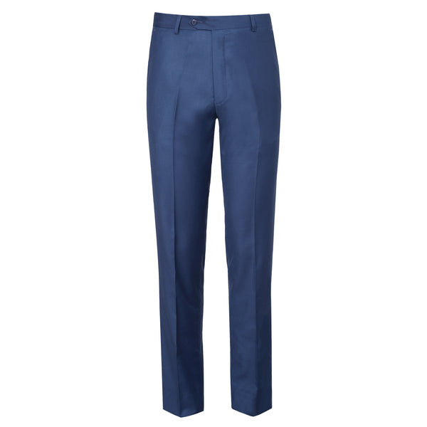 Navy Blue Plain Classic Fit Formal Trouser-32