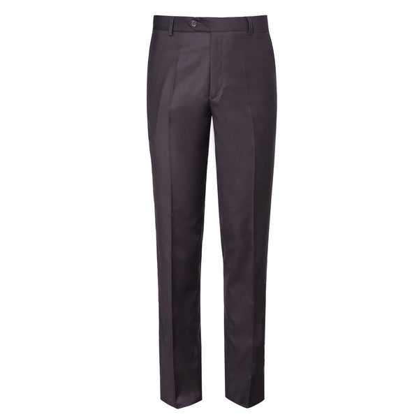 Burgandy Plain Classic Fit Formal Trouser-38