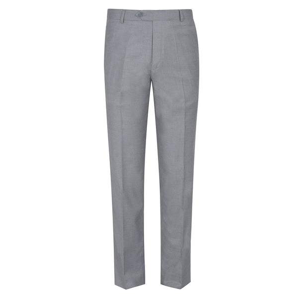 Grey Plain Classic Fit Formal Trouser-38
