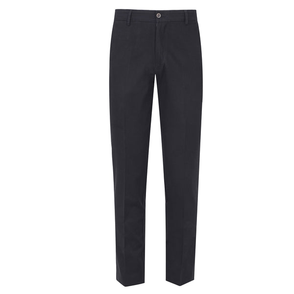 Black Smart  Fit Cotton Trouser-32
