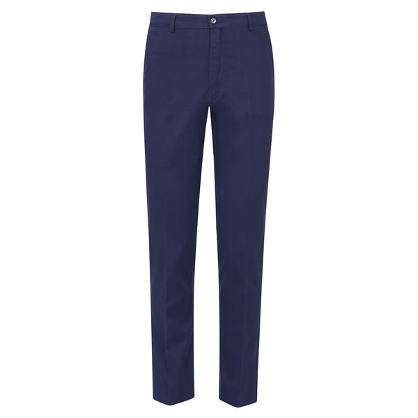 Navy Blue  Smart  Fit Cotton Trouser-34