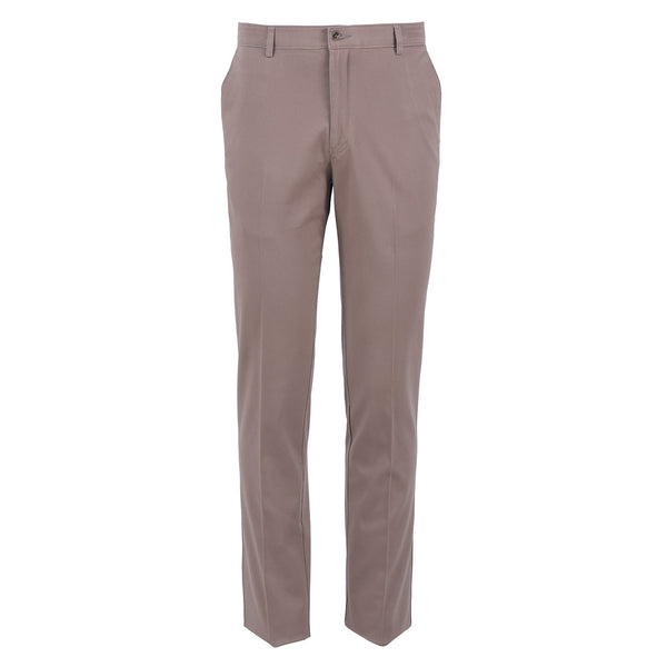 Khaki Smart  Fit Cotton Trouser-32