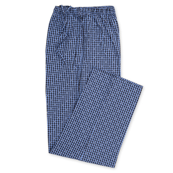 Blue And Black Check Relaxing Pajama-M