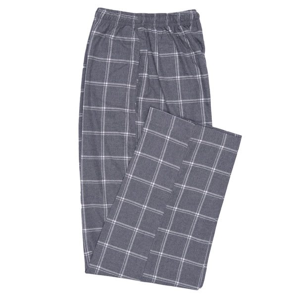 White Check On Grey Relaxing Pajama-M