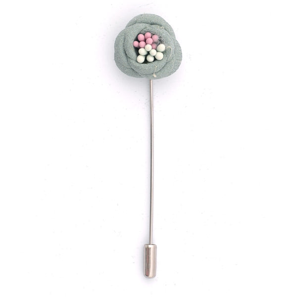 Light Green Flower Lapel Pin