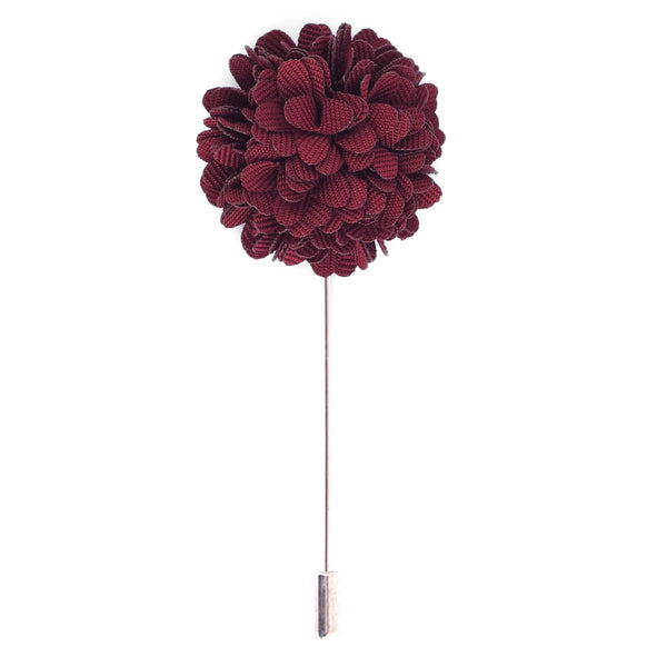 Crimson Flower Lapel Pin