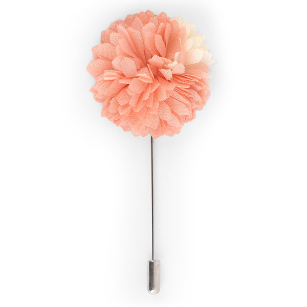 Peach Flower Lapel Pin