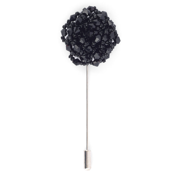 Black Pearl Flower Lapel Pin