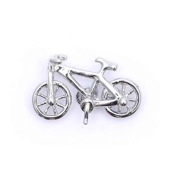 Silver Racing Bicycle Lapel Pin