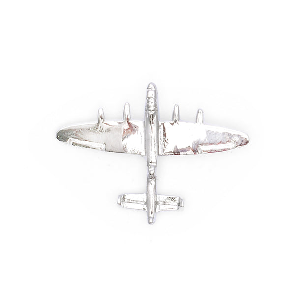 Silver Aircraft Lapel Pin