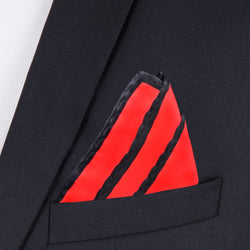 Red And Black Pocket Square