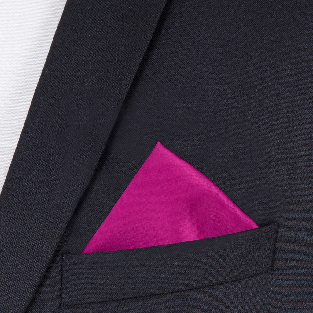 Dark Crimson Pocket Square