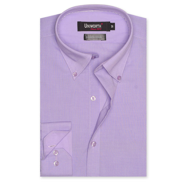White And Purple Check Business Casual Full Sleeve Button Down Shirt SC2117-L