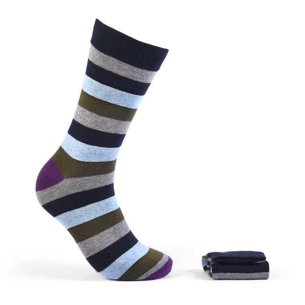 Walkees Multi Stripe Combed Cotton Socks