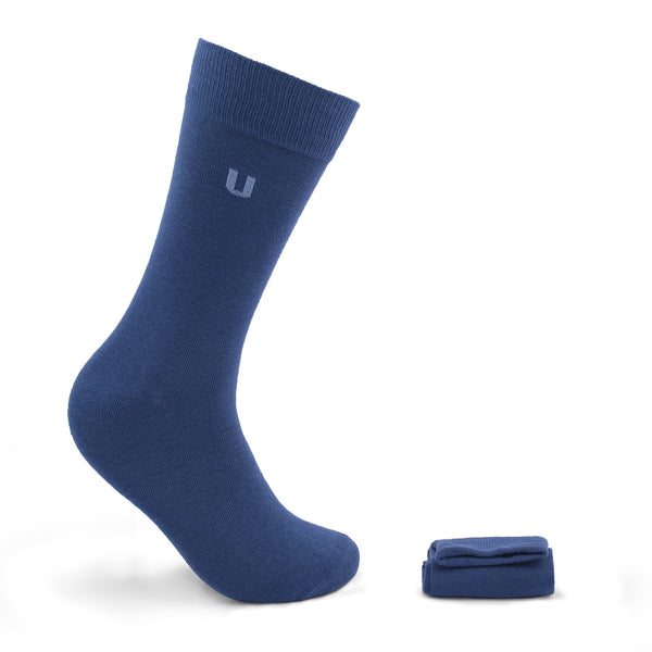 Blue Cotton Socks