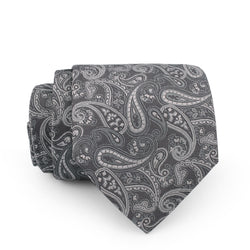 Grey Paisley Design Regular Tie
