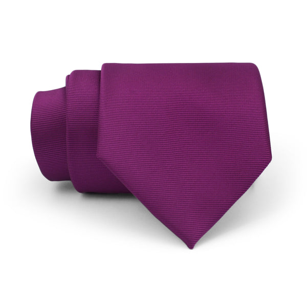 Purple Plain Regular Tie